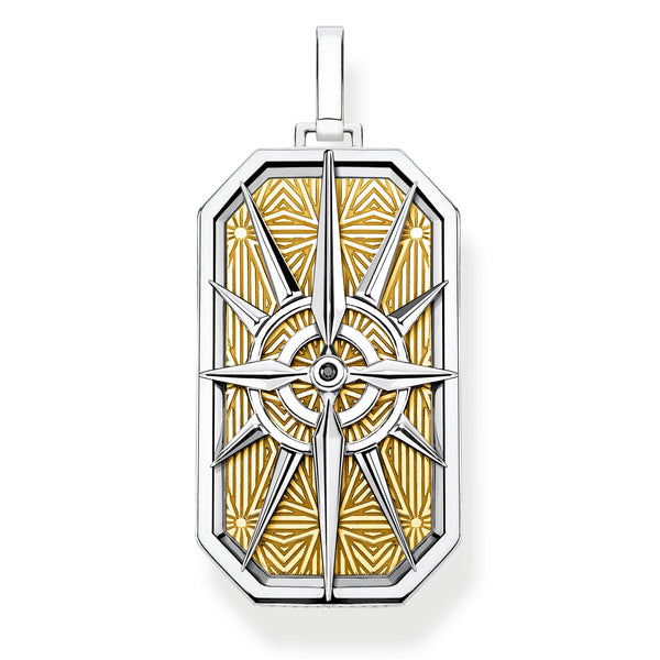 Pendant compass star gold