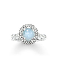 "Solitaire Ring ""Light Of Luna Light-blue"" - THOMAS SABO Thailand"
