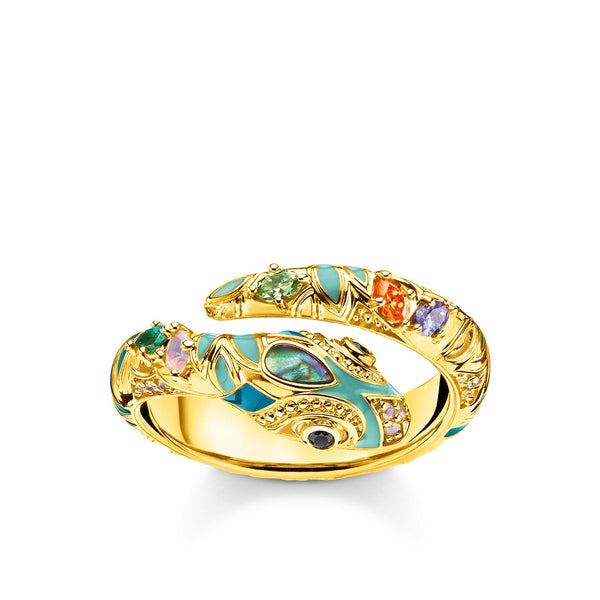 ring bright golden-coloured snake - THOMAS SABO Thailand