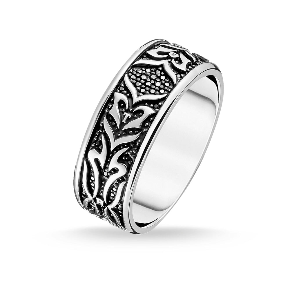 RING BLACK TIGER PATTERN - THOMAS SABO Thailand
