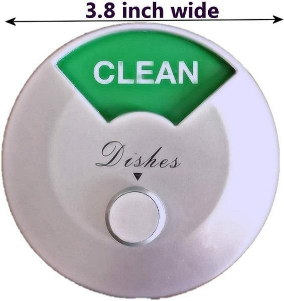 Home Medley Dishwasher Magnet Clean Dirty Sign, Round and Rotating Design, Non-Scratching Magnet and 3M Adhesive Stickers, Perfect Kitchen Gadgets for All Dishwashers (White) FREE SHIPPING!! - Ben's Discount Supply