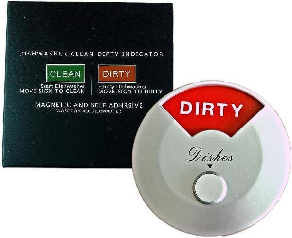 Home Medley Dishwasher Magnet Clean Dirty Sign, Round and Rotating Design, Non-Scratching Magnet and 3M Adhesive Stickers, Perfect Kitchen Gadgets for All Dishwashers (Silver) FREE SHIPPING!! - Ben's Discount Supply