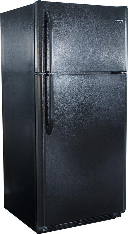 DIAMOND ELITE Natural Gas Refrigerator-Freezer in Black 19 cu.ft. - Ben's Discount Supply