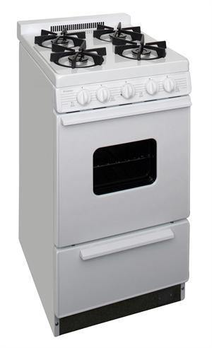 "Premier BHK5X0OP 20"" Battery Ignition Gas Range with Sealed Burners White - Ben's Discount Supply"