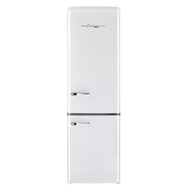Unique 10.3 cu/ft DC Solar Retro-Style Refrigerator-Freezer (Bottom Freezer) Secop/Danfoss Compressor Low Power Consumption UGP-­275L W (White) *Backorder 3/26/21* - Ben's Discount Supply