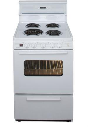 "Premier ECK240OP 24"" Electric Range White - Ben's Discount Supply"