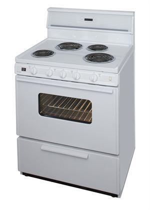 "Premier EDK240OP 30"" Electric Range White - Ben's Discount Supply"