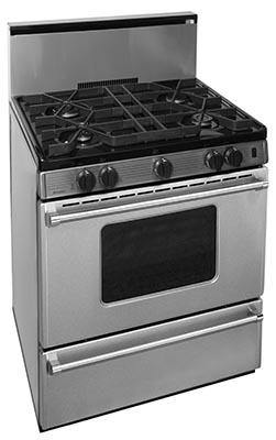 "Premier Pro Series P30B3202PS 30"" Stainless Range with Battery Ignition - Ben's Discount Supply"