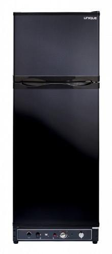Unique 10 cu/ft Propane Refrigerator  Dual Power (Propane/110V) High End Interior 2.1 cu/ft Freezer UGP­10C SM B (Black) *Backorder 3/17/21* - Ben's Discount Supply