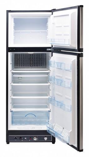 Unique 10 cu/ft Propane Refrigerator  Dual Power (Propane/110V)  High End Interior 2.1 cu/ft Freezer UGP­10C SM S/S (Stainless) - Ben's Discount Supply