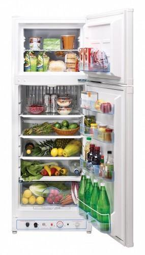 Unique 10 cu/ft Propane Refrigerator Dual Power (Propane/110V) High End Interior 2.1 cu/ft Freezer UGP­10C SM W (White) - Ben's Discount Supply