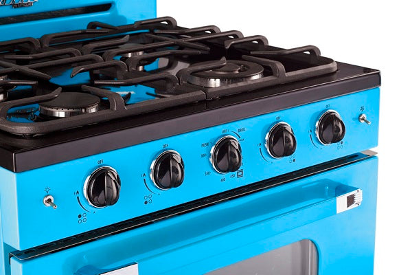 "UGP-30CR RB Classic Retro Unique 30"" Convection Gas Range (Electronic Ignition) in Robin Egg Blue"