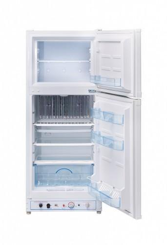 Unique 6.4 cu/ft Propane Refrigerator Dual Power (Propane/110V) High End Interior UGP­6C SM W (White) - Ben's Discount Supply
