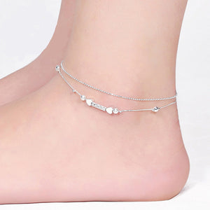 Sexy Women Straight Love Ankle Chain Anklet Foot Jewelry Sandal Beach Sexy Jewelry