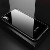 Luxury Tempered Glass Hard Back Cover Case For iPhone