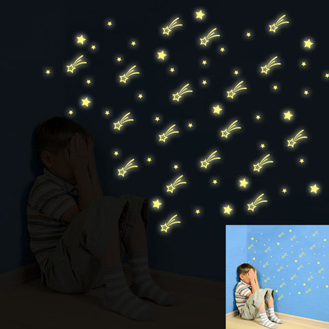 Kids Bedroom Glowing Stars Stickers