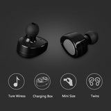 Stereo Music Wireless Bluetooth Headsets With Charging Box