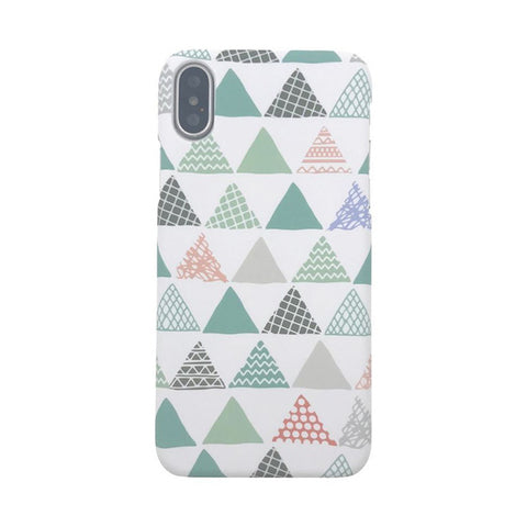 Abstract Art Triangle Joint Painted Geometric Splice Phone Cover Case for iPhone X