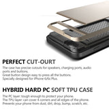 2 in 1 Dual Layer Hybrid Armor Impact Protection Back Cover Case for iPhone
