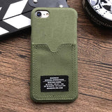 Camouflage Military Style Credit ID Card Denim Cover Case for iPhone