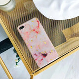 Luxury Fashion Foil Marble Pattern Back Cover Case For iPhone