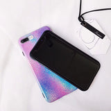 Laser Gradient Vintage Fashion Rainbow Back Cover Case For iPhone