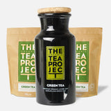 The Organic Tea Project Collector's Bundle: Green Tea Loose Leaf (200g x 2) + Tea Caddy