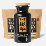 The Organic Tea Project Collector's Bundle: Sticky Chai Loose Leaf (150g x 2) + Tea Caddie