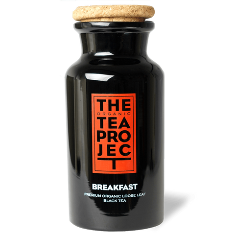 Collector's Bundle: English Breakfast Loose Leaf (200g x 2) + Tea Caddy Jar