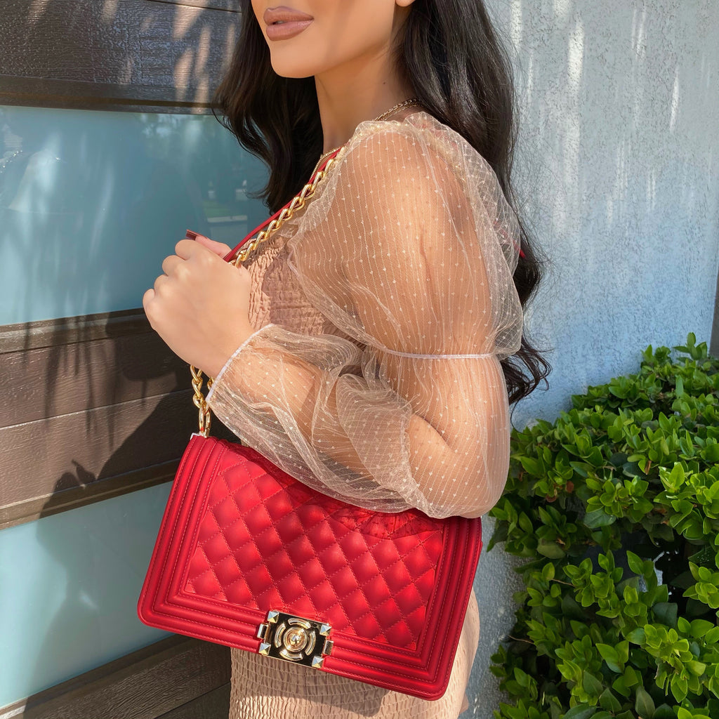 Firenze red jelly purse
