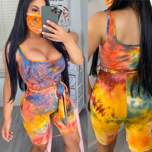 Ciara romper with matching mask