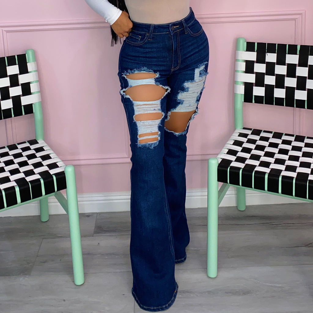 Naydalee bell bottoms jeans