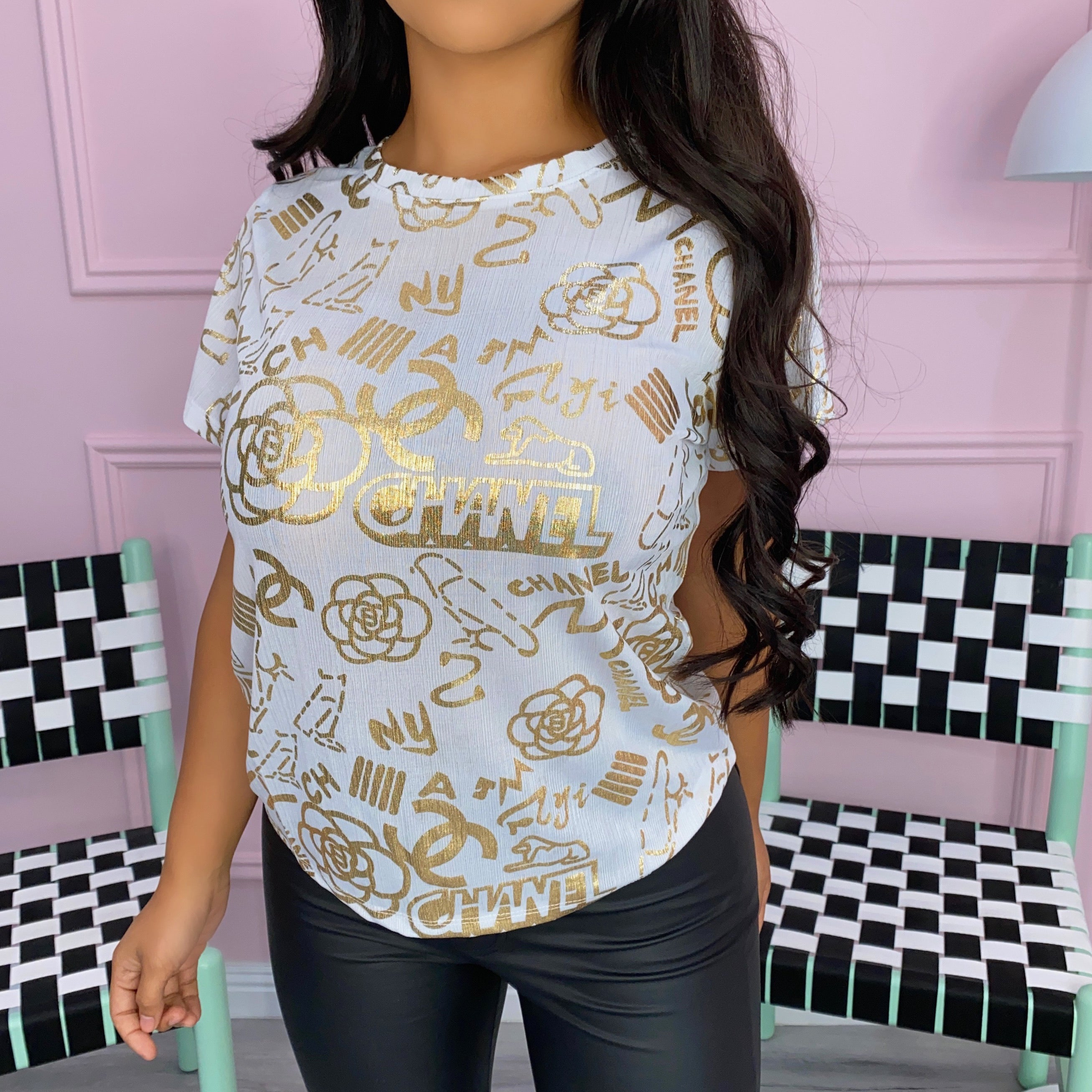 White/gold Chantel top