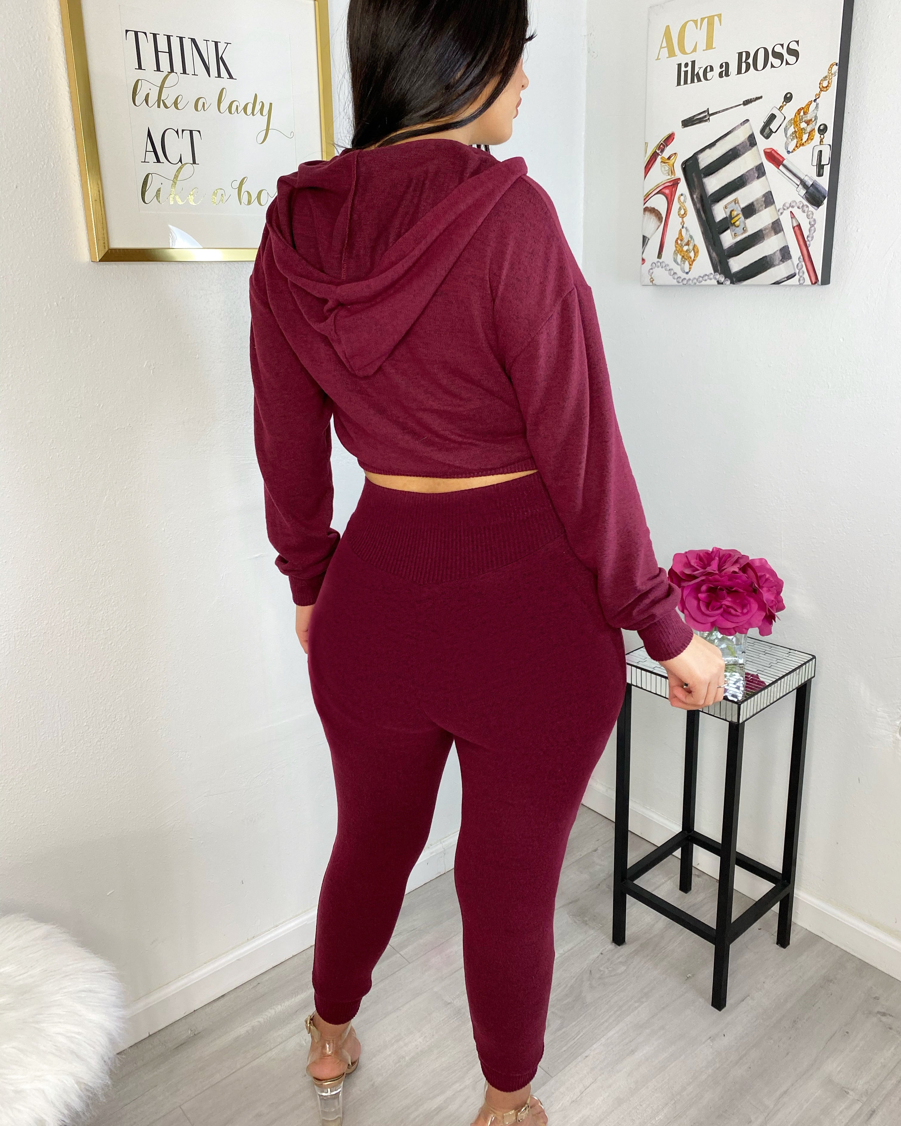 Burgundy cozy set
