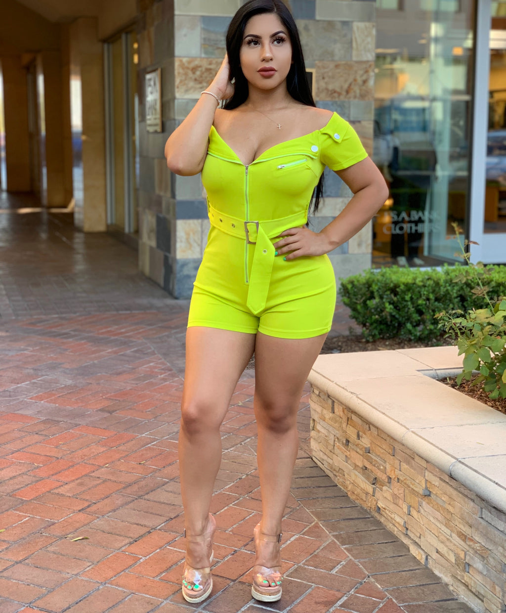 Britany lime romper