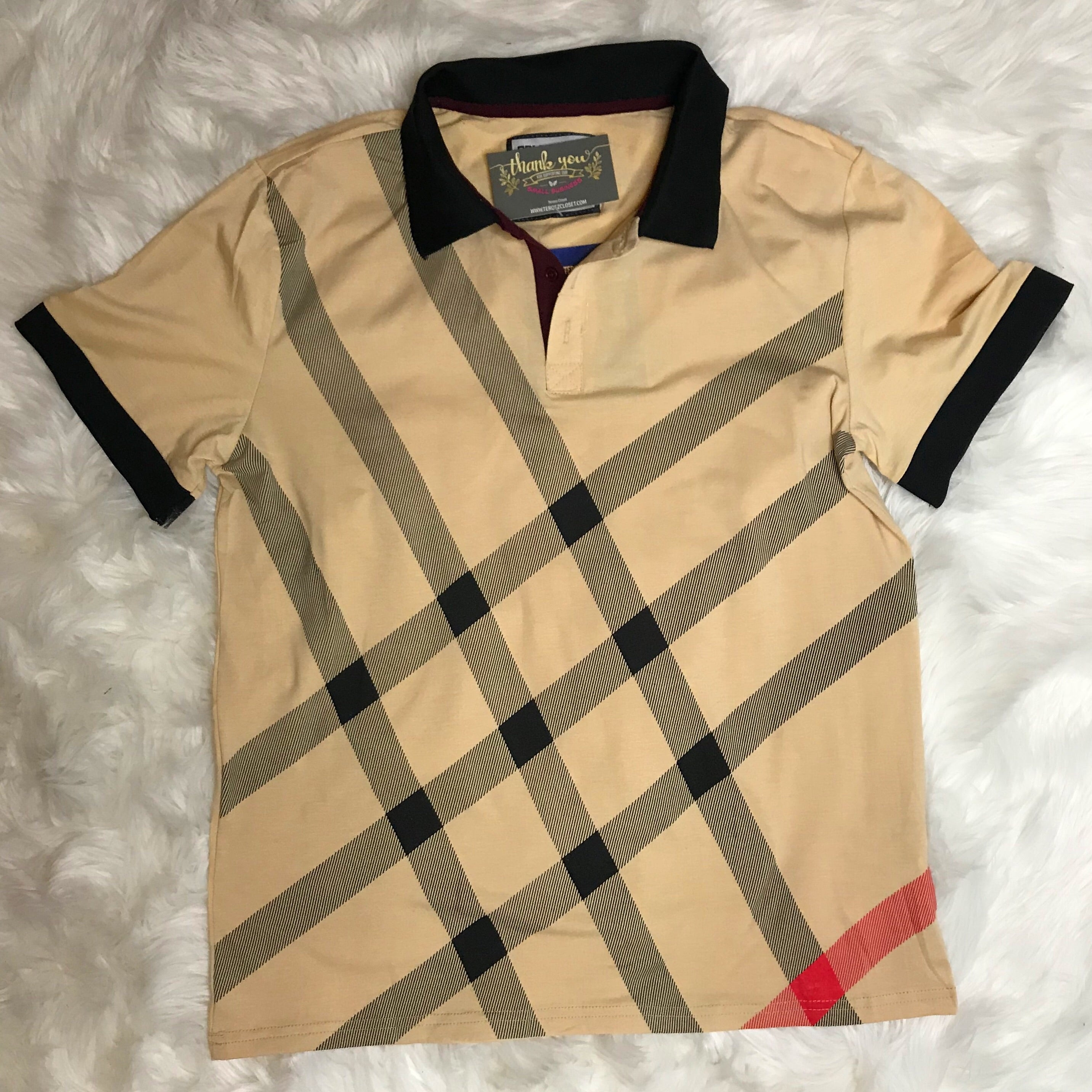 Signature polo-beige
