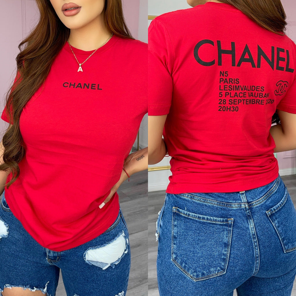 Chantelle tee-Red