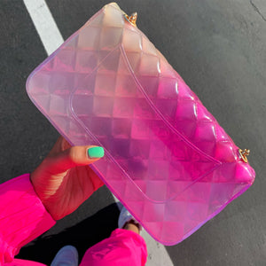 Pink/White Jelly purse