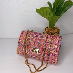 Pink Chantel purse/crossbody