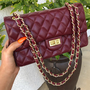 Chantel medium purse-deep red
