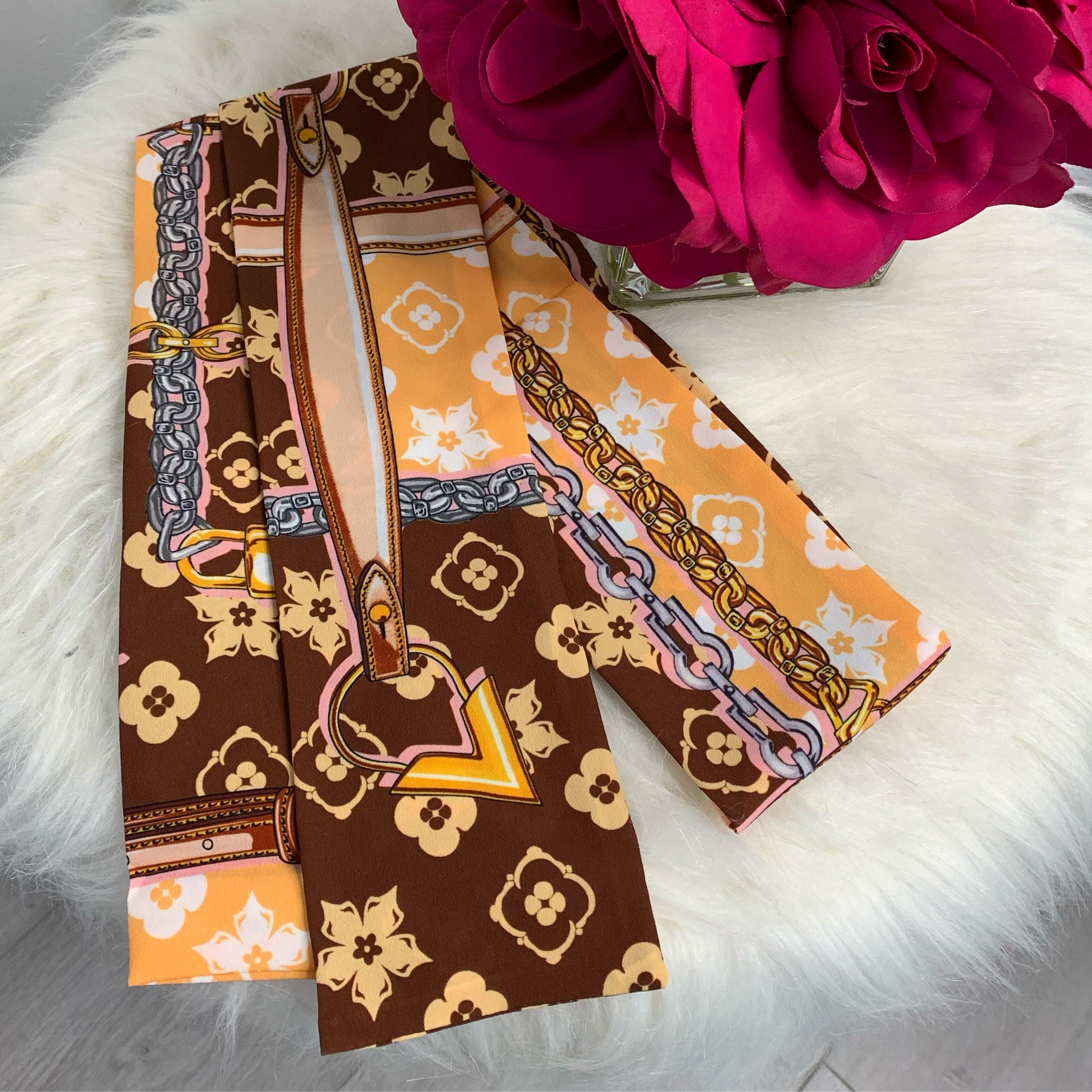 Valeriana bandana-brown