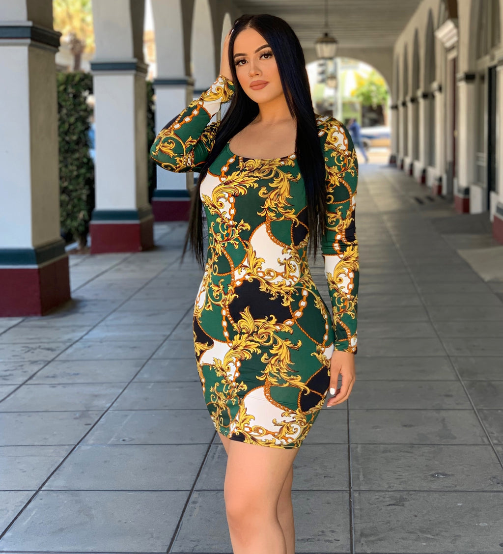 Mariana dress-green