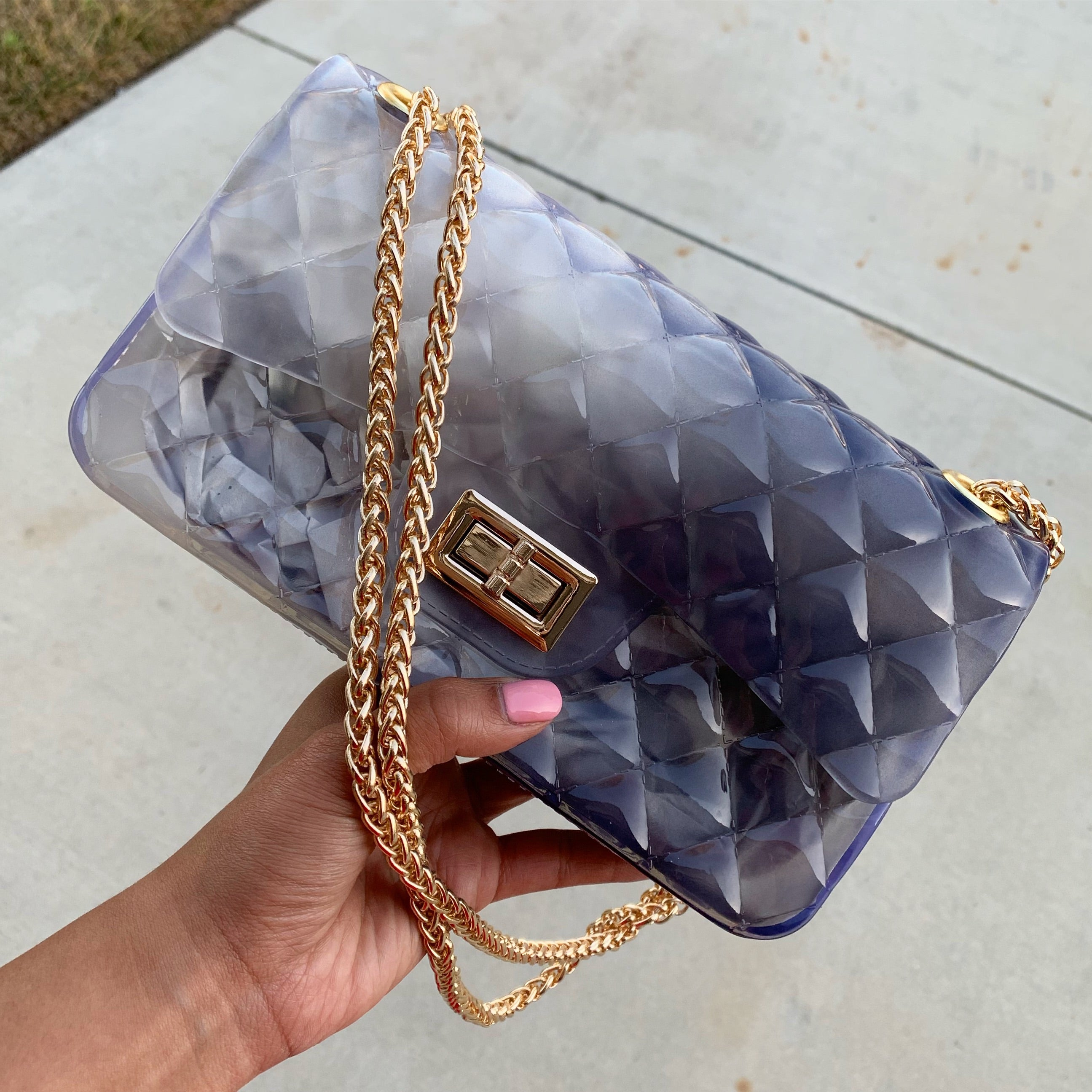 Jelly clear/black purse