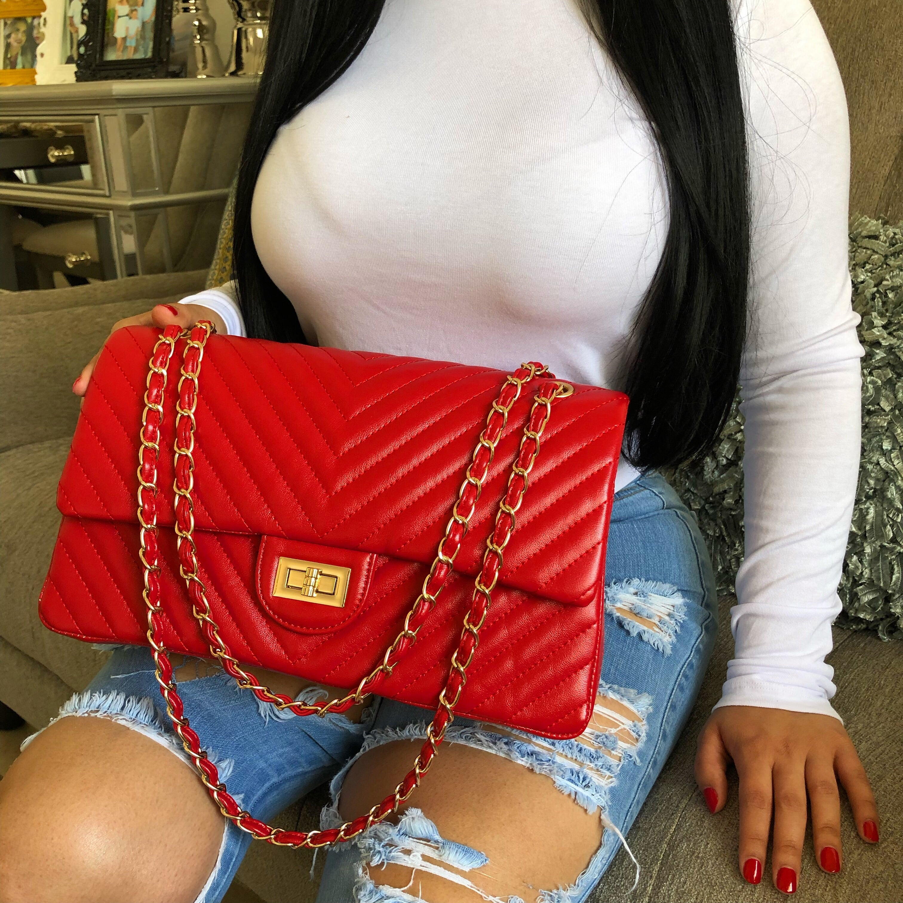 XL Chantel purse-red