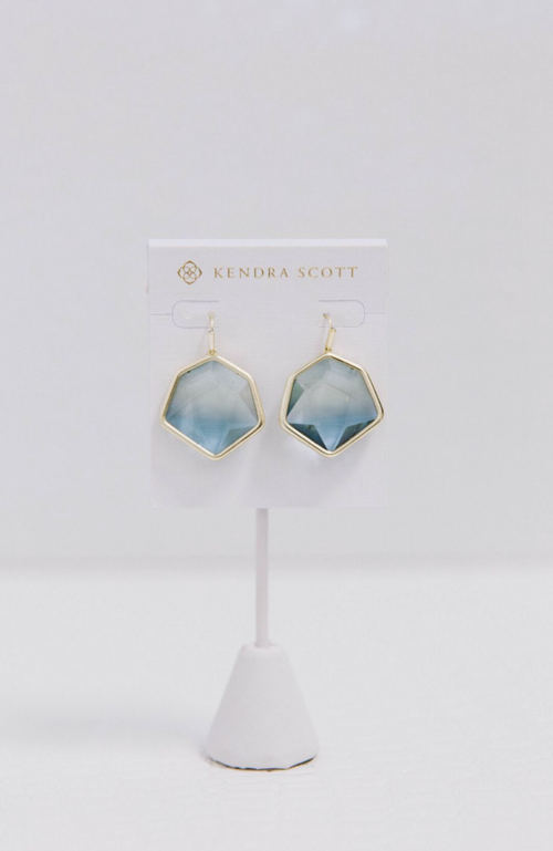 Kendra Scott Vanessa Drop Steel Gray Earrings
