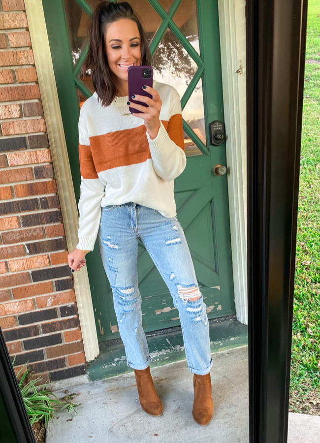 Cozy Chic Color Block Sweater