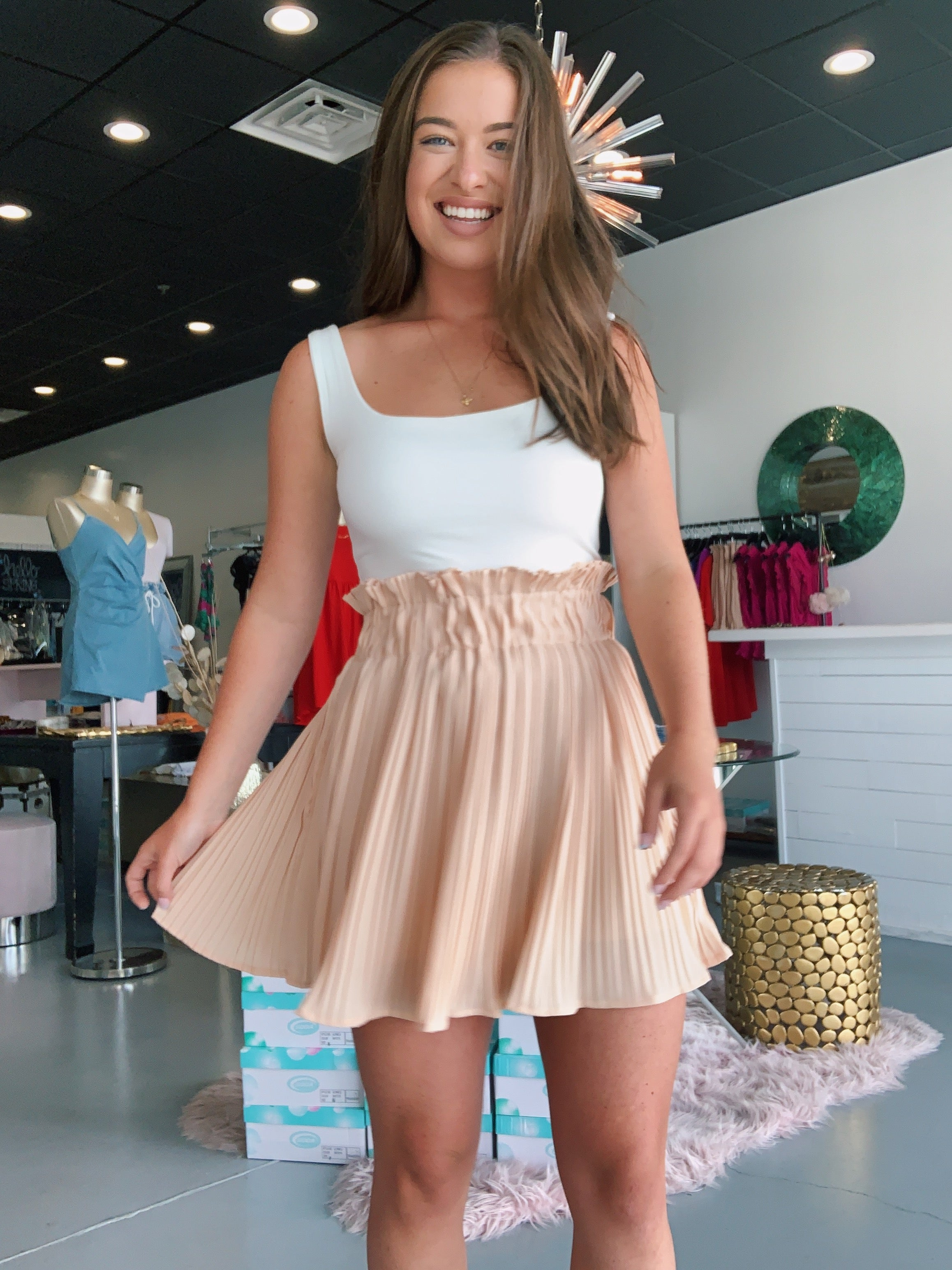 Sandy Pleated Skirt