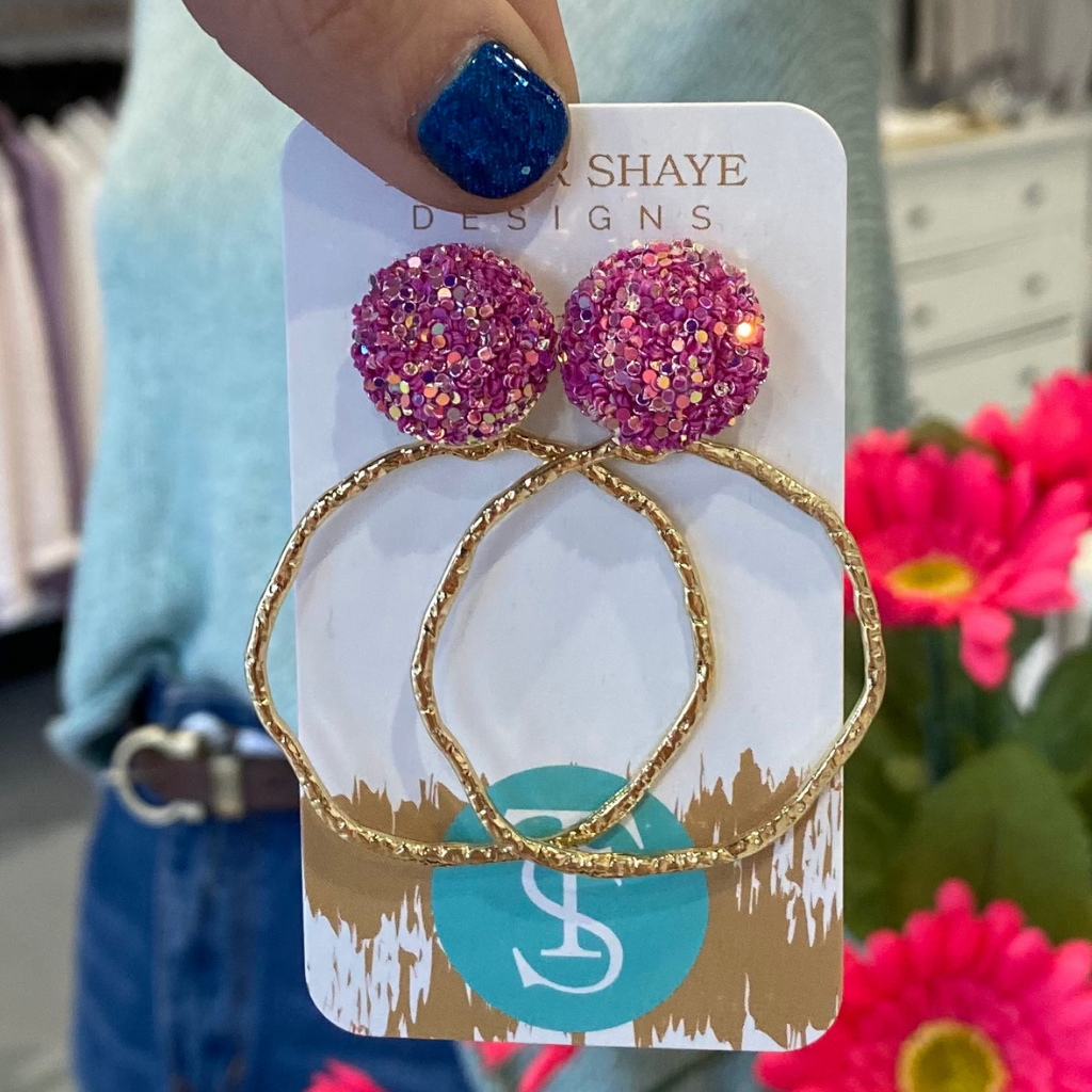 Taylor Shaye Sparkle Hoops