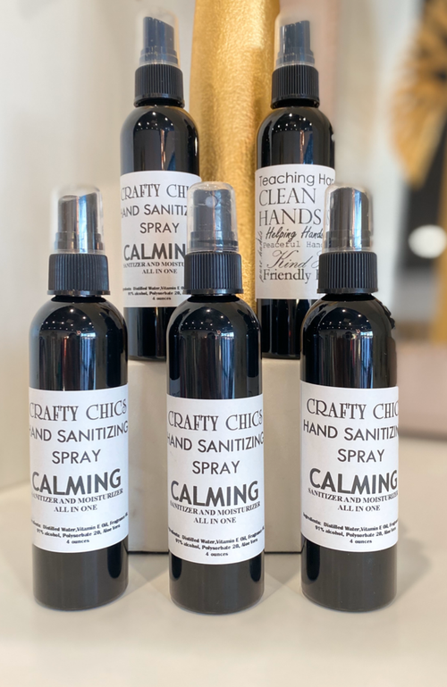Crafty Chics Calming Sanitizer and Moisturizing Spray