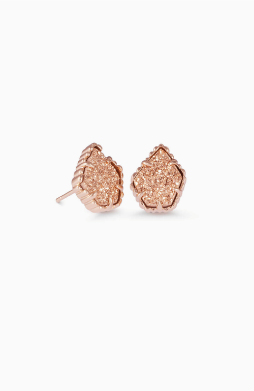 Kendra Scott Rose Gold Tessa Stud Rose Gold Drusy
